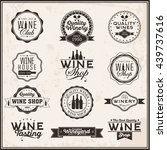 set of logos for its wine... | Shutterstock .eps vector #439737616