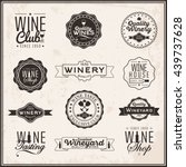 set of logos for its wine... | Shutterstock .eps vector #439737628