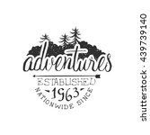 nationwide adventures vintage... | Shutterstock .eps vector #439739140