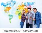 look at here. three beautiful... | Shutterstock . vector #439739338