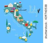 map of italy vector... | Shutterstock .eps vector #439740538