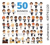 big set of 50 business people...