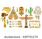 american indian ethnic elements ... | Shutterstock .eps vector #439741174