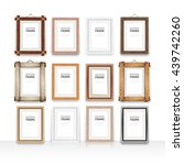 set of 12 vector wooden... | Shutterstock .eps vector #439742260