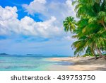 sand beach on remote tropical... | Shutterstock . vector #439753750