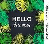 hello summer vector background. ...   Shutterstock .eps vector #439755004