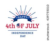 vector 4th of july greeting... | Shutterstock .eps vector #439755010