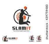 Basketball Slam Dunk Logo