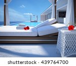 luxury swimming pool with... | Shutterstock . vector #439764700