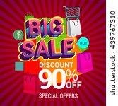 big sale discount 90  off... | Shutterstock .eps vector #439767310