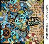nautical cartoon vector hand... | Shutterstock .eps vector #439770898