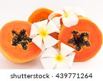 Sweet Papaya And Plumeria On...