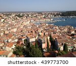 aerial view of rovinj old town. ... | Shutterstock . vector #439773700