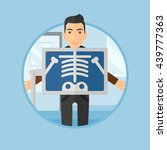 patient during chest x ray... | Shutterstock .eps vector #439777363