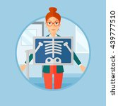 patient during chest x ray... | Shutterstock .eps vector #439777510