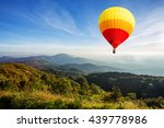 colorful hot air balloon over...   Shutterstock . vector #439778986