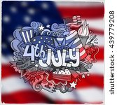 4th july independence day hand... | Shutterstock .eps vector #439779208