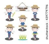 vector thailand farmers plants... | Shutterstock .eps vector #439779796