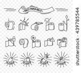 simple pictogram of toilet... | Shutterstock .eps vector #439785544