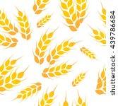 wheat white gold pattern vector  | Shutterstock .eps vector #439786684
