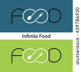 food and infinity logo.fork... | Shutterstock .eps vector #439786930