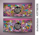 cartoon colorful vector hand... | Shutterstock .eps vector #439788358