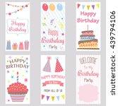 happy birthday invitation card... | Shutterstock .eps vector #439794106