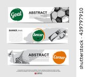 abstract soccer  football  ... | Shutterstock .eps vector #439797910