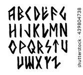 modern vector runic style hand... | Shutterstock .eps vector #439804738