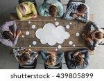 hipster business teamwork... | Shutterstock . vector #439805899