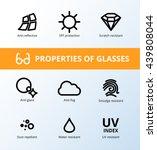 vector eye care  glasses... | Shutterstock .eps vector #439808044