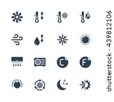 air conditioning vector icon set | Shutterstock .eps vector #439812106