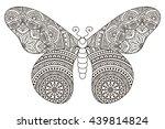 flower mandalas. vintage... | Shutterstock . vector #439814824