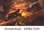 chase scene of spacecraft... | Shutterstock . vector #439817434