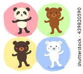 cute bear set. vector... | Shutterstock .eps vector #439820590