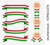 world flag ribbon   vector... | Shutterstock .eps vector #439821376