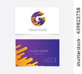 creative g logo on business... | Shutterstock .eps vector #439823758