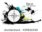 abstract compass symbol. vector ... | Shutterstock .eps vector #439826530