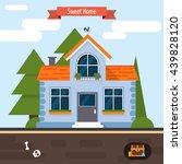 modern flat vector building... | Shutterstock .eps vector #439828120