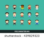 set of pixel art characters... | Shutterstock .eps vector #439829323