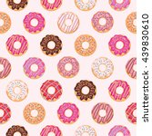 seamless pattern with glazed... | Shutterstock .eps vector #439830610