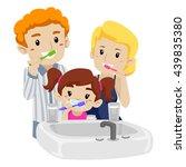 vector illustration of family... | Shutterstock .eps vector #439835380