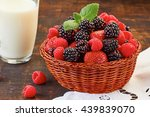 Basket Of Summer Berries And...