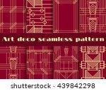 art deco seamless patterns. set ... | Shutterstock .eps vector #439842298