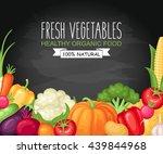 vector harvest illustration... | Shutterstock .eps vector #439844968
