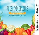 vector harvest illustration... | Shutterstock .eps vector #439844989