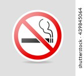 no smoking sign | Shutterstock .eps vector #439845064