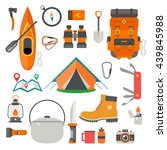 set of camping equipment... | Shutterstock .eps vector #439845988