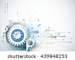 abstract technology background. ... | Shutterstock .eps vector #439848253
