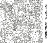 raster copy. seamless pattern... | Shutterstock . vector #439853323